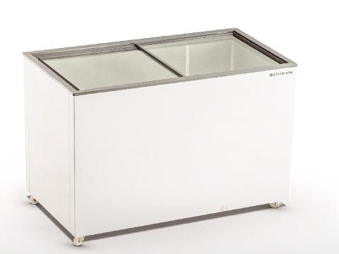 Freezer - Horizontal porta de vidro